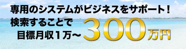 月収1万円~月収300万円!?