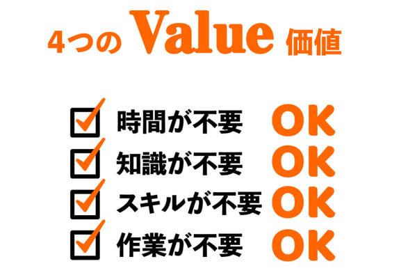 4つのバリュー価値
